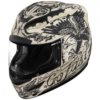 Casque Integrale ICON Airmada Scrawl Matt White