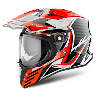 Casque Integrale Airoh Commander Carbon Orange