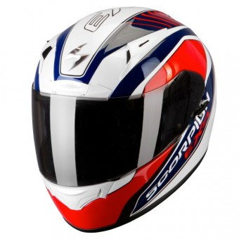 Casque Integrale Scorpion EXO 2000 Air Performer Bianco Nacre Blu Rosso