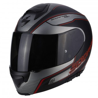 Casque Integrale Scorpion Exo 3000 Air Stroll Matt Black Silver Red