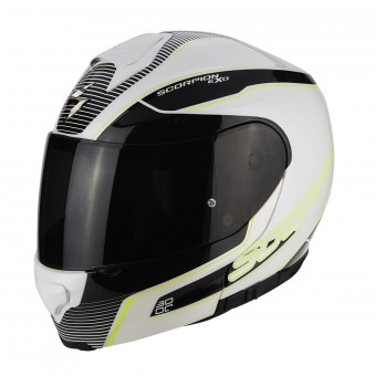 Casque Integrale Scorpion Exo 3000 Air Stroll Pearl White Black Neon Yellow