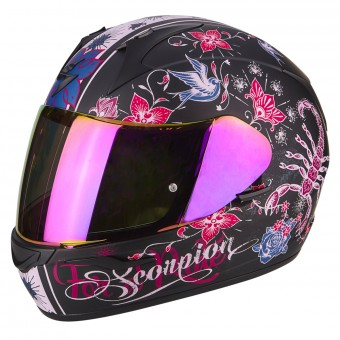 Casque Integrale Scorpion Exo 390 Chica Matt Black Pink