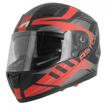 Casque Integrale Astone GT 900 Street Matt Red Black