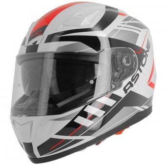 Casque Integrale Astone GT 900 Street White Red