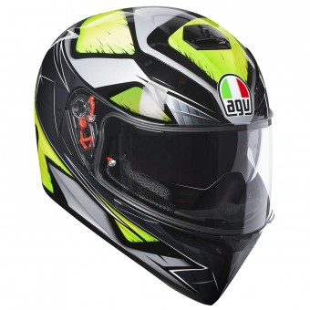 Casque Integrale AGV K3 SV Liquefi Grey Yellow Fluo