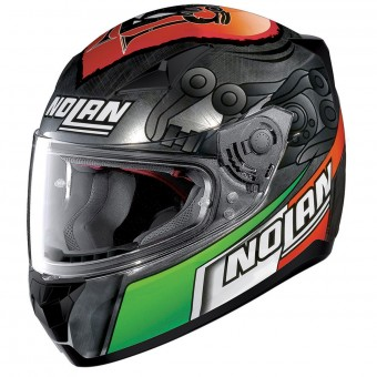 Casque Integrale Nolan N60 5 Gemini Replica M. Melandri Chrome 35