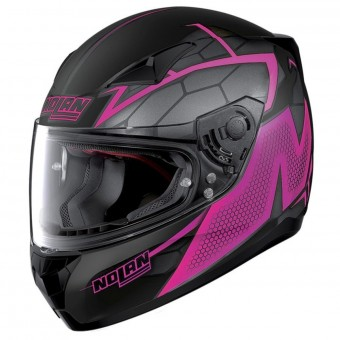 Casque Integrale Nolan N60 5 Hexagon Flat Black Fuchsia 17