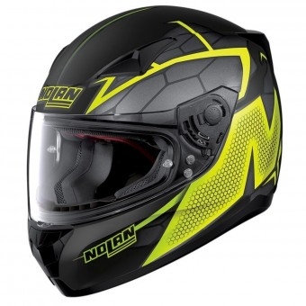 Casque Integrale Nolan N60 5 Hexagon Flat Black Yellow 16