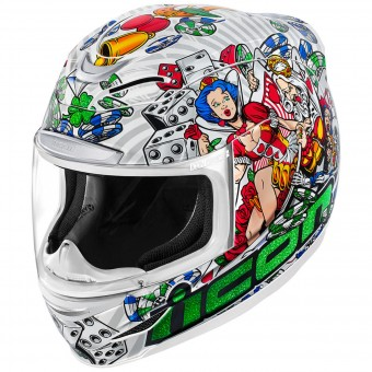 Casque Integrale ICON Airmada Lucky Lid 2 White
