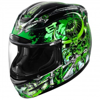 Casque Integrale ICON Airmada Shadow Warrior Green