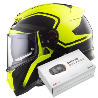 Casque Integrale LS2 Breaker Bold Black H-V Yellow FF390