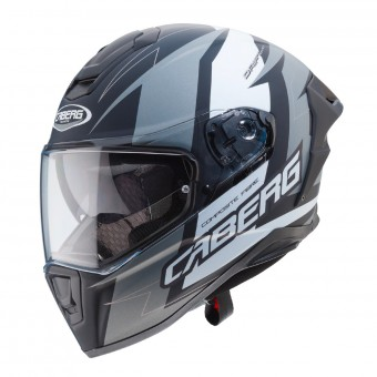 Casque Integrale Caberg Drift Evo Speedster Antracite Nero Opaco Bianco