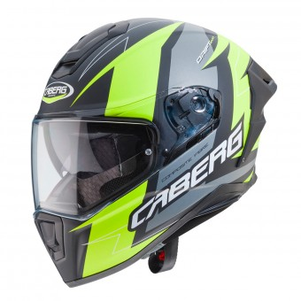 Casque Integrale Caberg Drift Evo Speedster Antracite Nero Opaco Giallo
