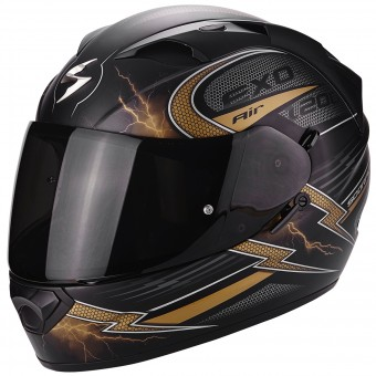 Casque Integrale Scorpion EXO 1200 Air Fulgur Matt Black Gold