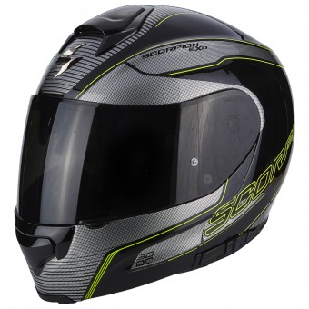 Casque Integrale Scorpion Exo 3000 Air Stroll Black Silver Neon Yellow