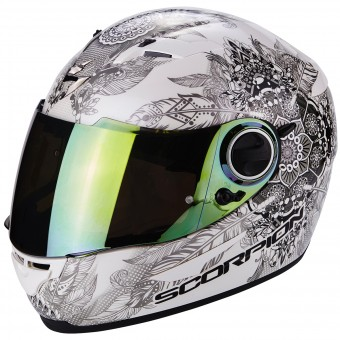 Casque Integrale Scorpion Exo 490 Dream White Chameleon