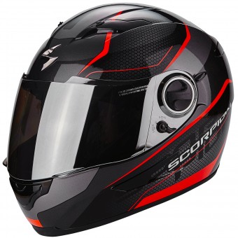 Casque Integrale Scorpion Exo 490 Vsion Black Neon Red