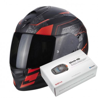 Casque Integrale Scorpion Exo 510 Air Galva Matt Black Neon Red