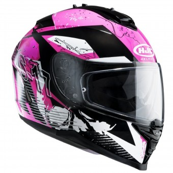 Casque Integrale HJC IS17 Pink Rocket MC8