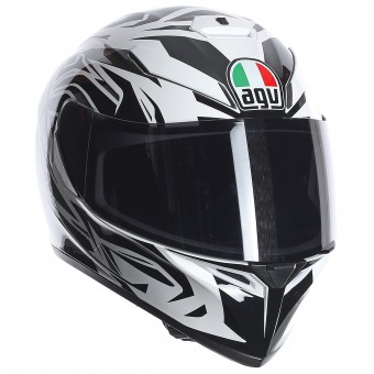 Casque Integrale AGV K3 SV Rookie White Gunmetal Black