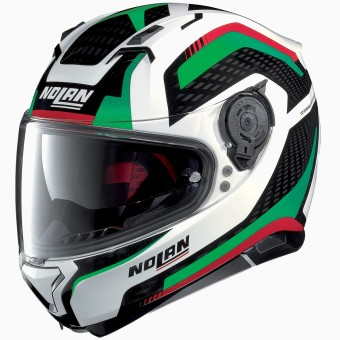 Casque Integrale Nolan N87 Arkad N-Com White Red Green 41