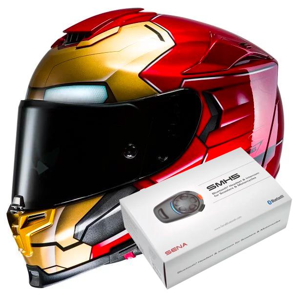 ac04e46d342 Casco Moto HJC RPHA 70 Iron Man pronto per l invio