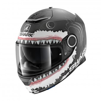 Casque Integrale Shark Spartan 1.2 Replica Lorenzo White Shark Mat KWA