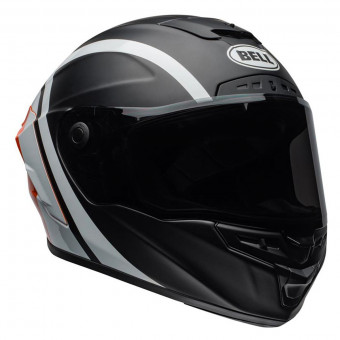 Casque Integrale Bell Star Mips Tantrum Matte Black White Orange