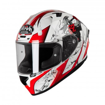 Casque Integrale Airoh Valor Jackpot Rosso Bianco