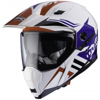 Casque Integrale Caberg Xtrace Lux White Red Blue