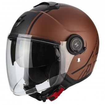 Casque Jet Scorpion Exo City Avenue Matt Brown Black