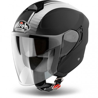 Casque Jet Airoh Hunter Simple Black Matt