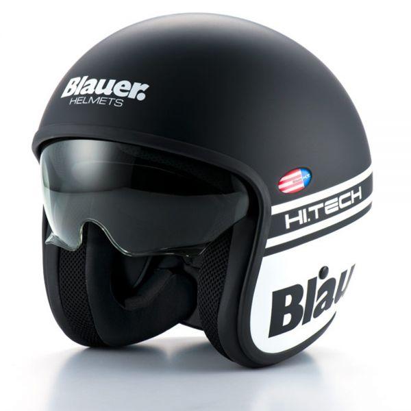 Casco Moto Blauer Pilot 1.1 Nero Opaco Bianco in Stock  b064c7de5ac