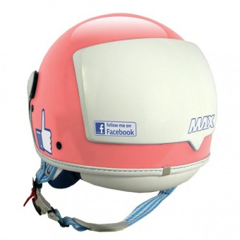 Casque Jet MAX The Social Network Rosa
