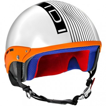 Casque Jet IDI Mini Stripes Bianco Opaco - Nero