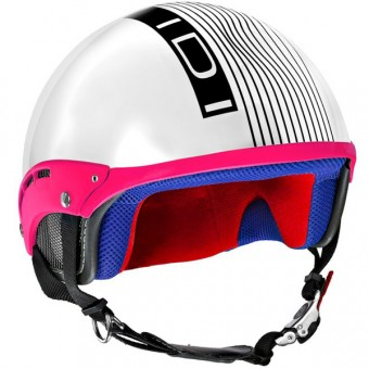 Casque Jet IDI Mini Stripes Bianco - Nero
