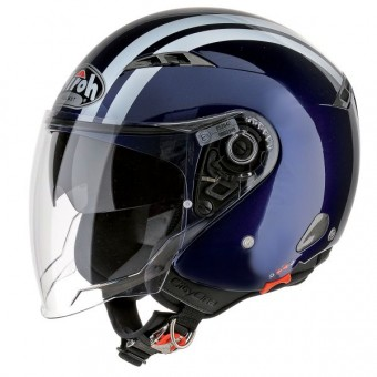 Casque Jet Airoh City One Flash Blu Notte