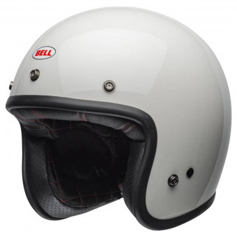 Casque Jet Bell Custom 500 Solid Vintage White