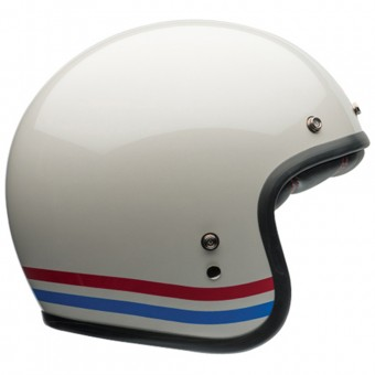 Casque Jet Bell Custom 500 Stripes Pearl White