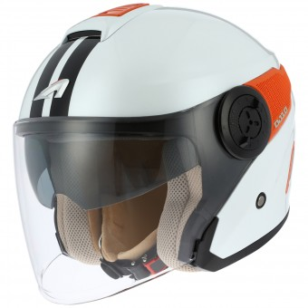Casque Jet Astone DJ10 Lines White Orange