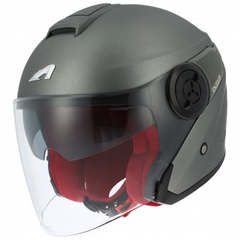 Casque Jet Astone DJ10 Matt Titanium Grey