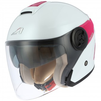 Casque Jet Astone DJ10 White Pink