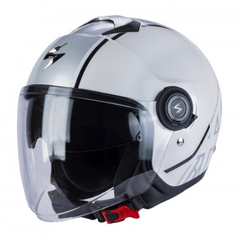 Casque Jet Scorpion Exo City Avenue Bianco Argento
