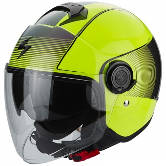Casque Jet Scorpion Exo City Wind Neon Yellow Black