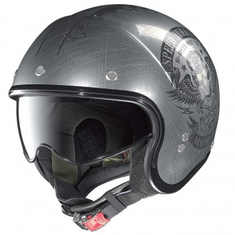 Casque Jet Nolan N21 Speed Junkies Scratched Chrome 32
