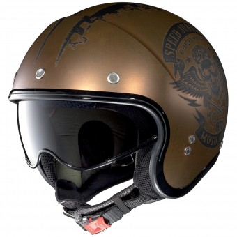 Casque Jet Nolan N21 Speed Junkies Scratched Copper 52