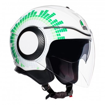 Casque Jet AGV Orbyt Ginza Bianco Italia