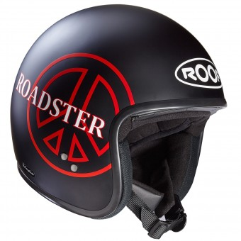 Casque Jet Roof Roadster Peace Nero Rosso Mat