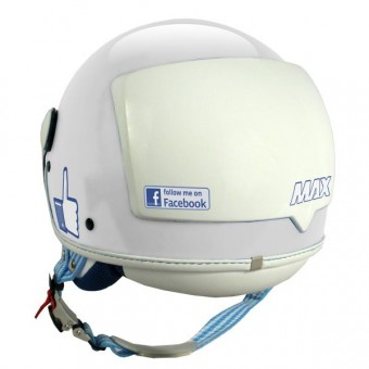 Casque Jet MAX The Social Network Bianco