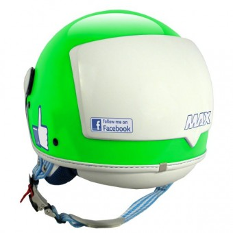 Casque Jet MAX The Social Network Verde